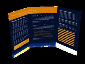Folder ontwerp A5 groot drieluik WOZ Consultants