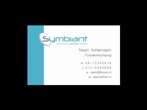 Visitekaart ontwerp 55x85mm liggend Symbiant