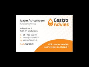 Visitekaart ontwerp 55x85mm liggend Gastroadvies