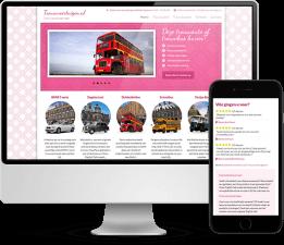 Wordpress website ontwerp Trouwvoertuigen.nl