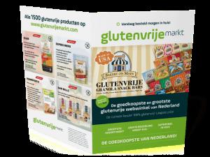 Folderontwerp A3 naar A4 Glutenvrijemarkt.nl